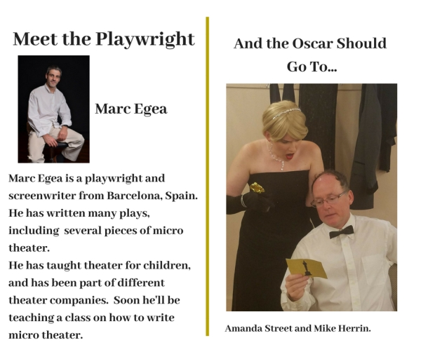 Meet the Playwright Egea